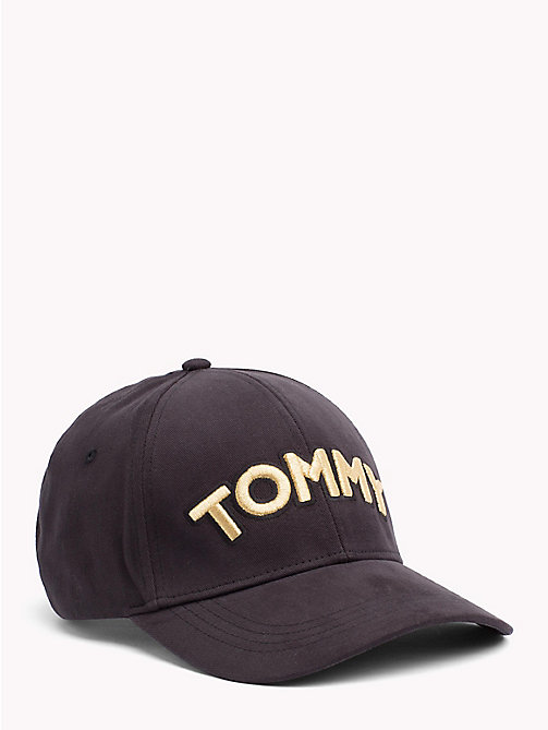 TOMMY HILFIGER Logo Patch Cap - BLACK - TOMMY HILFIGER Hats - main image