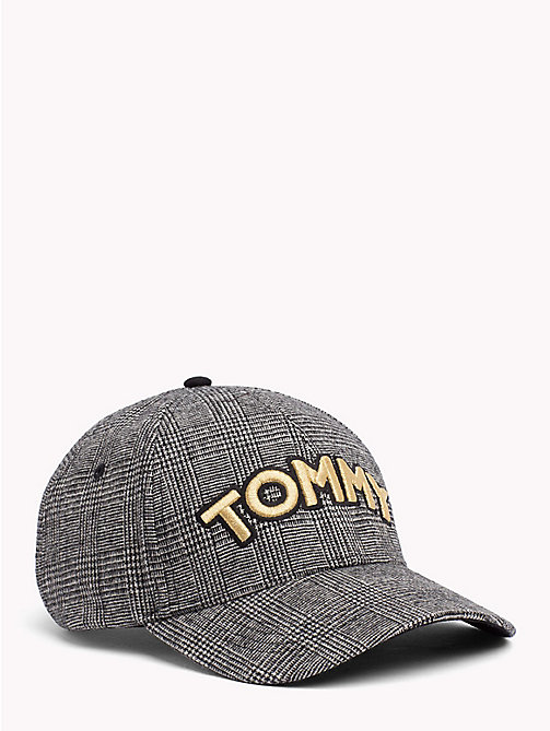 TOMMY HILFIGER Logo Patch Cap - POW CHECK - TOMMY HILFIGER Hats - main image