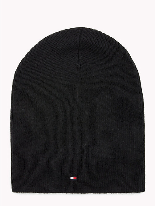 TOMMY HILFIGER Flag Beanie Hat - BLACK - TOMMY HILFIGER Hats - main image