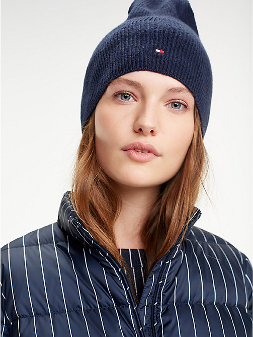 TOMMY HILFIGER Flag Beanie Hat - TOMMY NAVY - TOMMY HILFIGER Winter Warmers - detail image 1