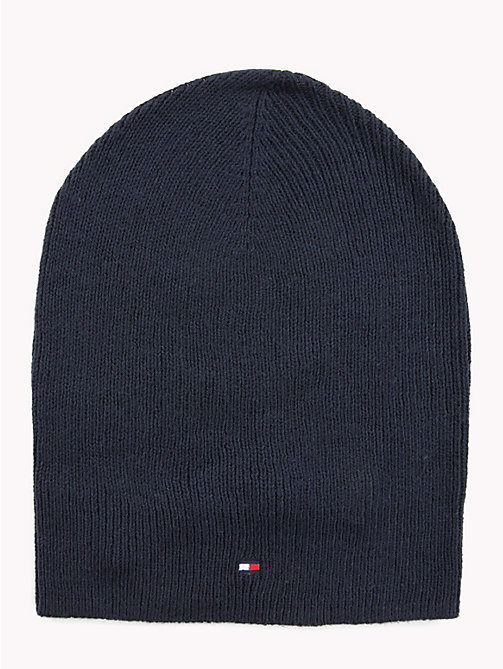 TOMMY HILFIGER Flag Beanie Hat - TOMMY NAVY - TOMMY HILFIGER Winter Warmers - main image