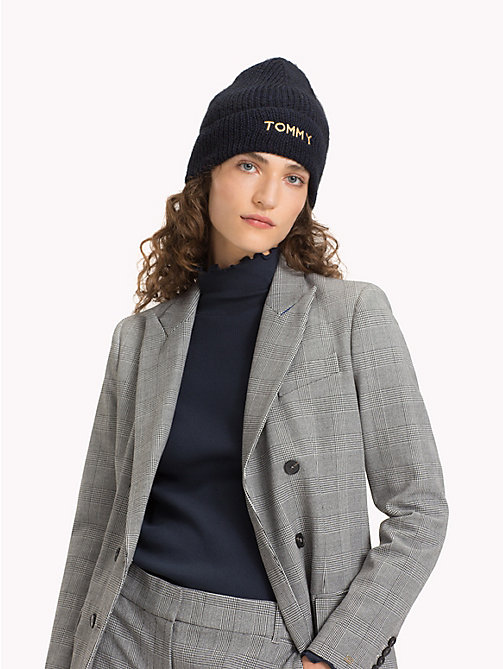 TOMMY HILFIGER Knit Logo Hat - TOMMY NAVY - TOMMY HILFIGER Bags & Accessories - detail image 1