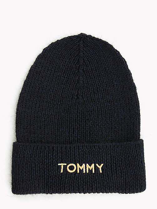 TOMMY HILFIGER Knit Logo Hat - TOMMY NAVY - TOMMY HILFIGER Caps & Beanies - main image
