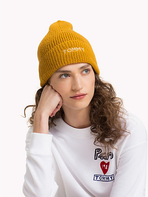 TOMMY HILFIGER Knit Logo Hat - SUNFLOWER - TOMMY HILFIGER Winter Warmers - detail image 1