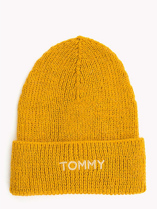 TOMMY HILFIGER Knit Logo Hat - SUNFLOWER - TOMMY HILFIGER Winter Warmers - main image