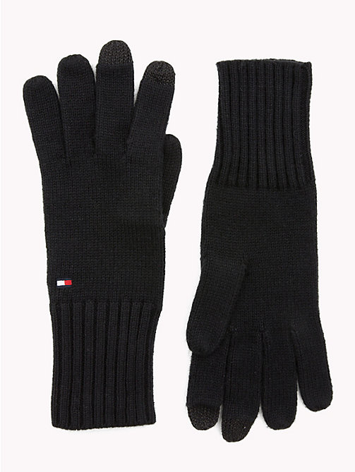 TOMMY HILFIGER Signature Gloves - BLACK - TOMMY HILFIGER Gloves - main image