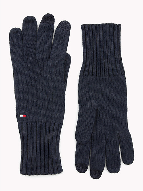 TOMMY HILFIGER Signature Gloves - TOMMY NAVY - TOMMY HILFIGER Bags & Accessories - main image