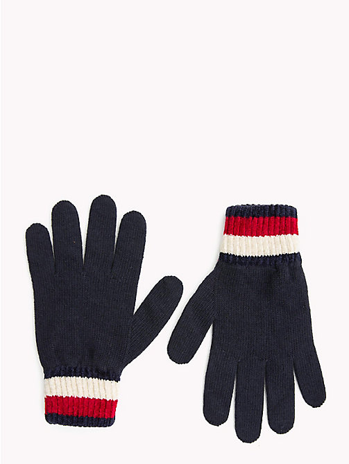 TOMMY HILFIGER Chunky Knit Gloves - TOMMY NAVY - TOMMY HILFIGER Bags & Accessories - main image