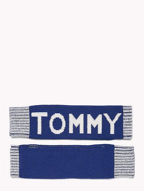 TOMMY HILFIGER Logo Knit Hand Warmers - MAZARINE BLUE - TOMMY HILFIGER Winter Warmers - main image