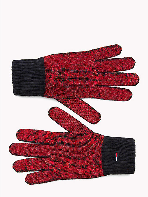 TOMMY JEANS Textured Knit Gloves - CORPORATE - TOMMY JEANS Shoes & Accessories - main image