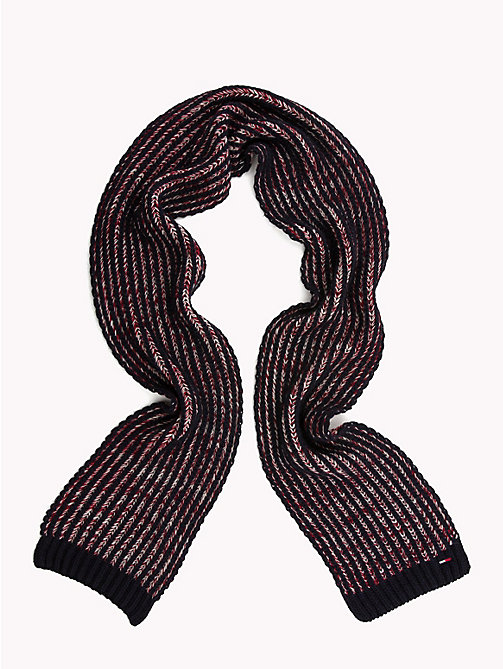 TOMMY JEANS Chunky Knit Stripe Scarf - CORPORATE - TOMMY JEANS Scarves - detail image 1