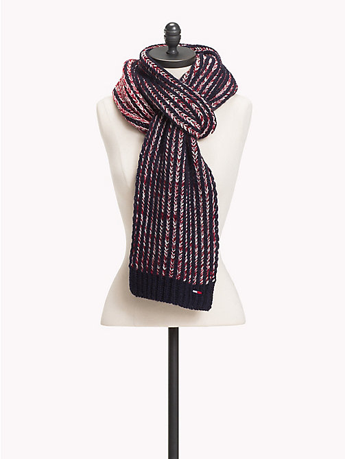TOMMY JEANS Chunky Knit Stripe Scarf - CORPORATE - TOMMY JEANS Scarves - main image