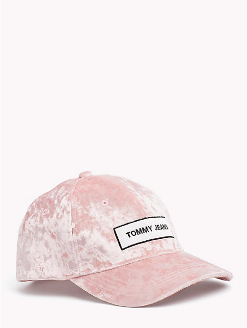 TOMMY JEANS Casquette Tommy Jeans en velours - PINK TBC - TOMMY JEANS Chaussures & accessoires - image principale