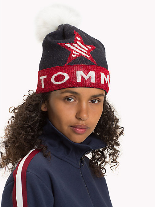 TOMMY JEANS Logo Star Bobble Beanie - CORPORATE - TOMMY JEANS Shoes & Accessories - detail image 1