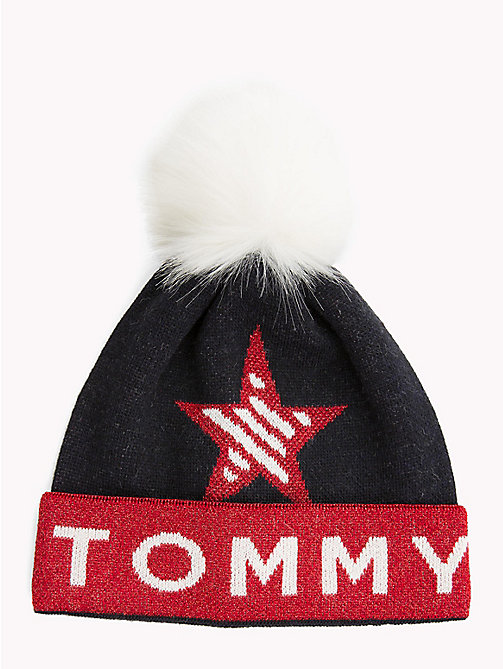 TOMMY JEANS Logo Star Bobble Beanie - CORPORATE - TOMMY JEANS Bags & Accessories - main image