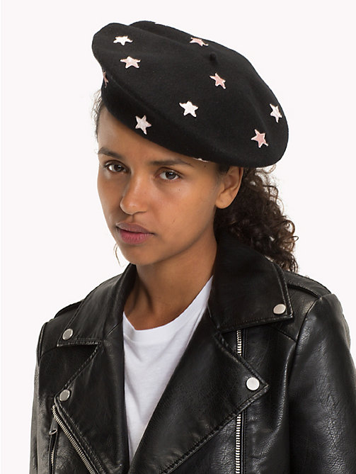 TOMMY JEANS Star Pattern Beret - BLACK MIX - TOMMY JEANS Shoes & Accessories - detail image 1