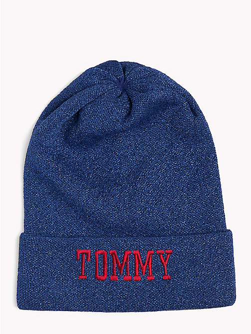 TOMMY JEANS Varsity Logo Hat - SURF THE WEB - TOMMY JEANS Winter Warmers - main image