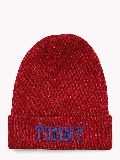 TOMMY JEANS Varsity Logo Hat - TOMMY RED - TOMMY JEANS Bags & Accessories - main image
