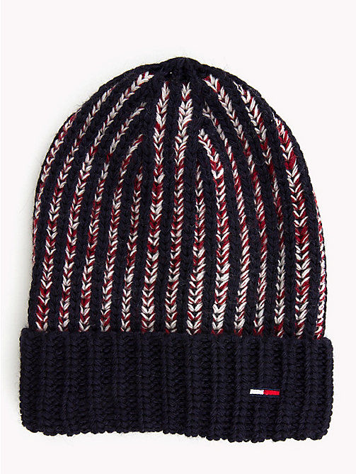 TOMMY JEANS Chunky Stripe Knit Hat - CORPORATE - TOMMY JEANS Caps & Beanies - main image