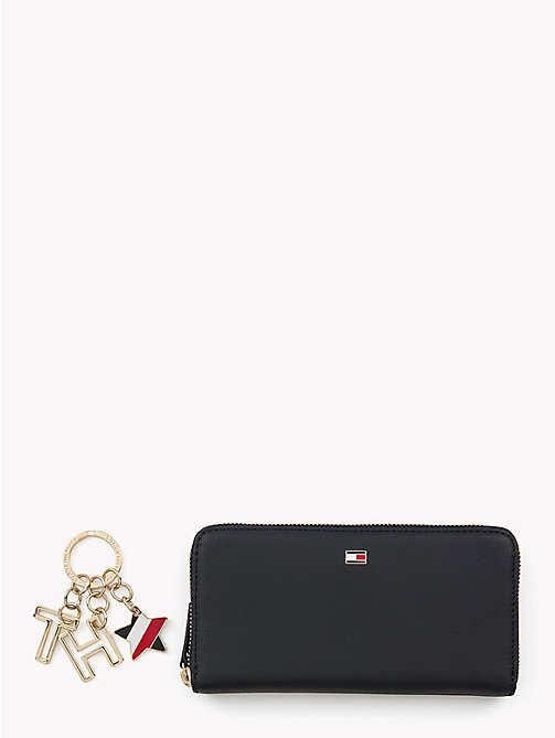 TOMMY HILFIGER Leather Wallet and Keyfob Gift Set - TOMMY NAVY - TOMMY HILFIGER Wallets & Keyrings - main image
