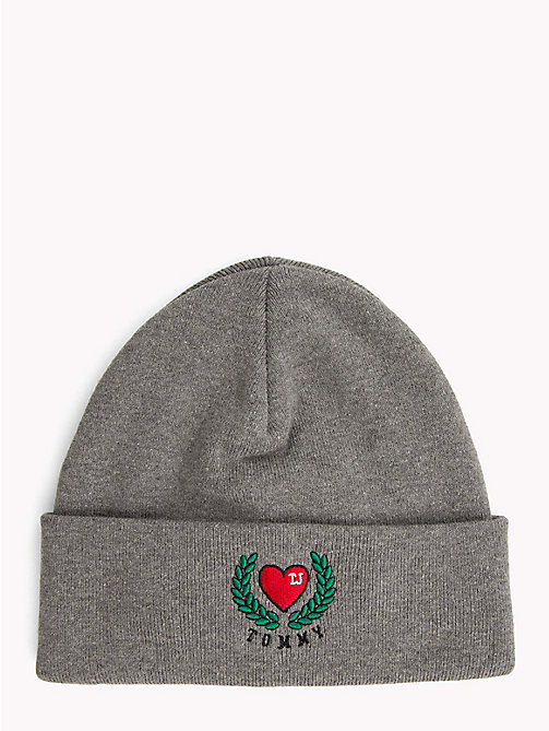 TOMMY JEANS Logo Patch Hat - LIGHT GREY HEATHER - TOMMY JEANS Caps & Beanies - main image