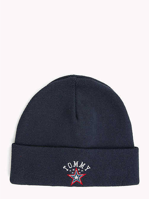 TOMMY JEANS Logo Patch Hat - BLACK IRIS - TOMMY JEANS Winter Warmers - main image