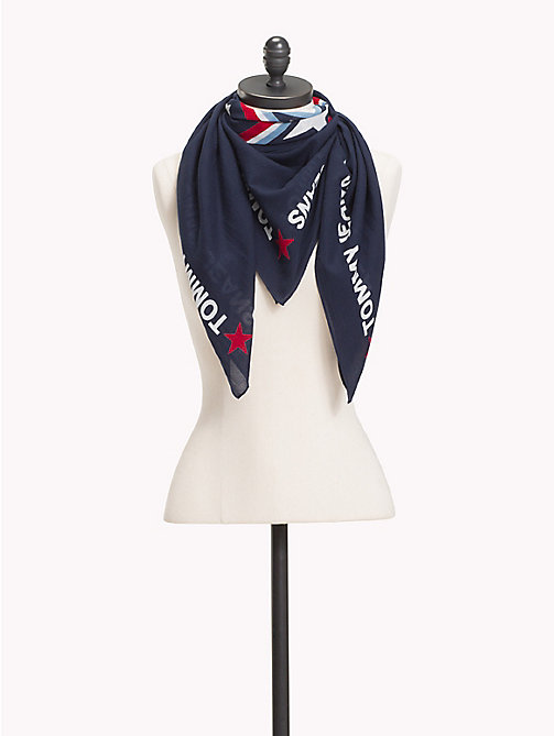 TOMMY JEANS Tommy Jeans Patch Scarf - BLACK IRIS - TOMMY JEANS Scarves - main image