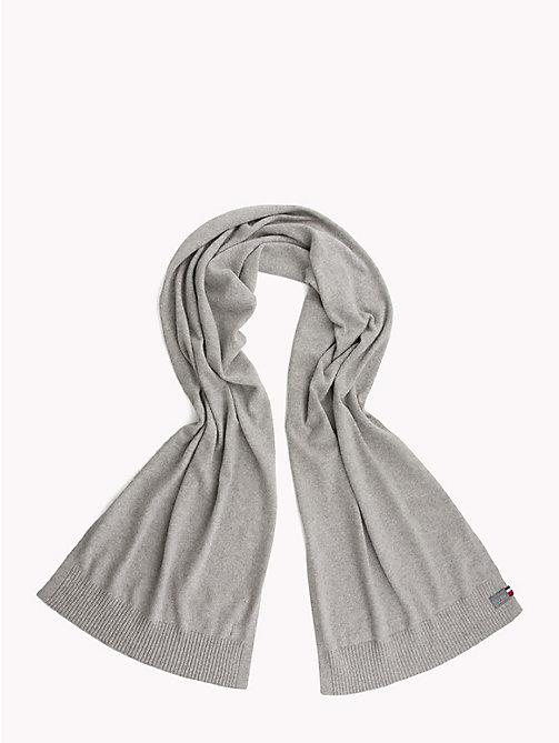 TOMMY HILFIGER Knit Scarf and Hat Set - LIGHT GREY HEATHER - TOMMY HILFIGER Bags & Accessories - detail image 1