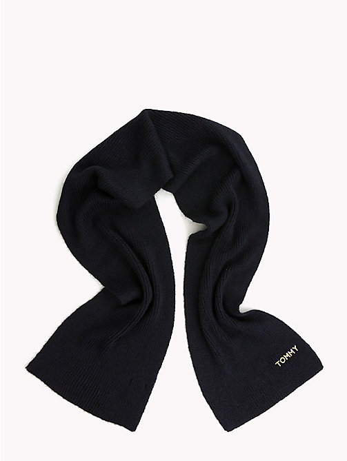 TOMMY HILFIGER Mohair Blend Scarf and Hat Set - TOMMY NAVY - TOMMY HILFIGER Scarves - detail image 1