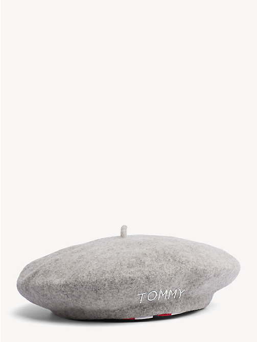 TOMMY HILFIGER Stripe Wool Beret - MID GREY HTR - TOMMY HILFIGER Bags & Accessories - detail image 1