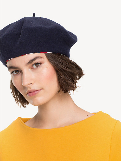TOMMY HILFIGER Stripe Wool Beret - TOMMY NAVY - TOMMY HILFIGER Bags & Accessories - detail image 1