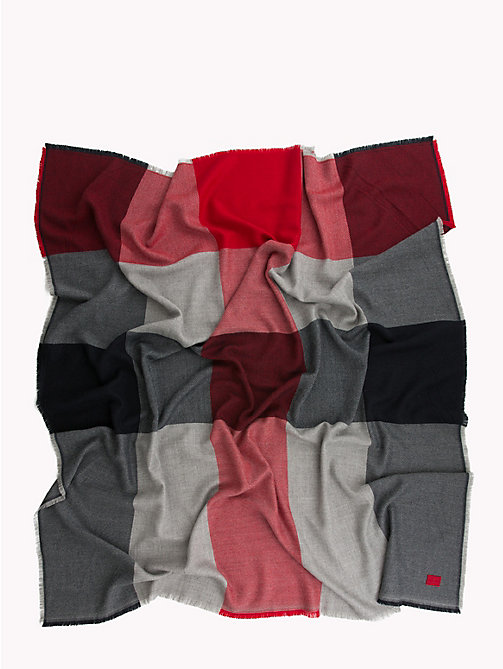 TOMMY HILFIGER Colour-Blocked Blanket Scarf - CORP MIX - TOMMY HILFIGER Scarves - detail image 1