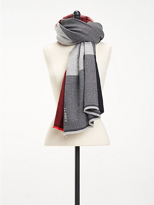 TOMMY HILFIGER Colour-Blocked Blanket Scarf - CORP MIX - TOMMY HILFIGER Scarves - main image