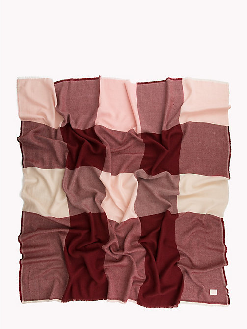 TOMMY HILFIGER Colour-Blocked Blanket Scarf - SILVER PINK MIX - TOMMY HILFIGER Scarves - detail image 1