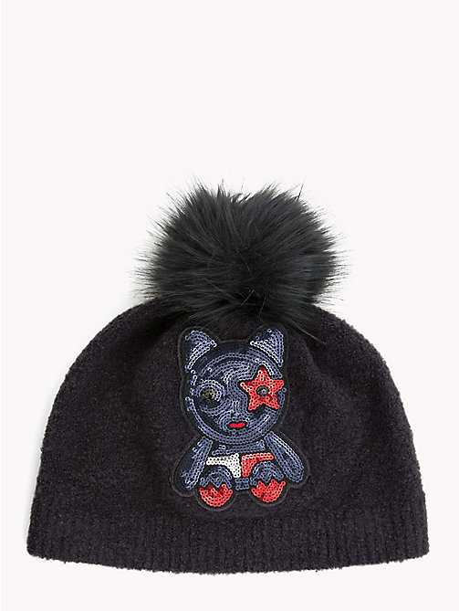 TOMMY HILFIGER Sequin Mascot Beanie Hat - CORPORATE - TOMMY HILFIGER Caps & Beanies - main image