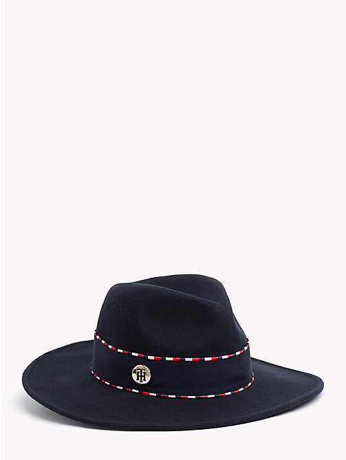 TOMMY HILFIGER Pure Wool Fedora Hat - CORPORATE - TOMMY HILFIGER Bags & Accessories - main image