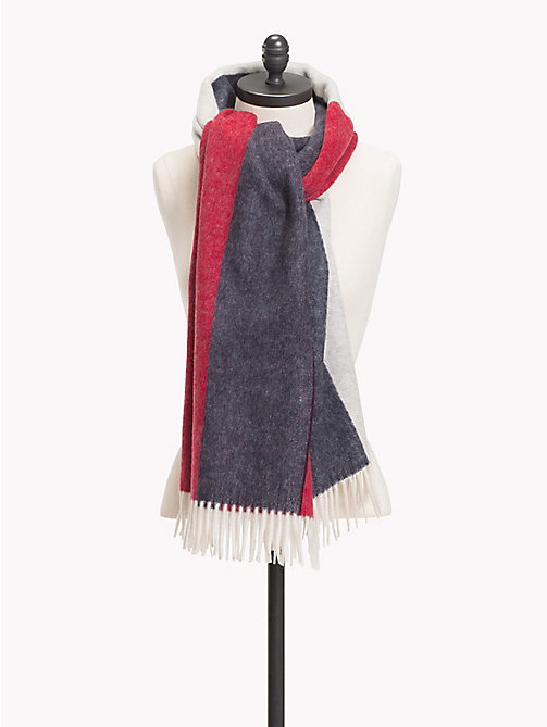 TOMMY HILFIGER Large Cashmere Flag Scarf - CORPORATE -  Bags & Accessories - main image