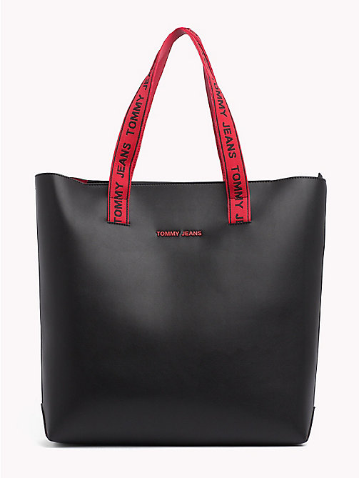 TOMMY JEANS Boxy Tote Bag - BLACK - TOMMY JEANS Bags & Accessories - main image