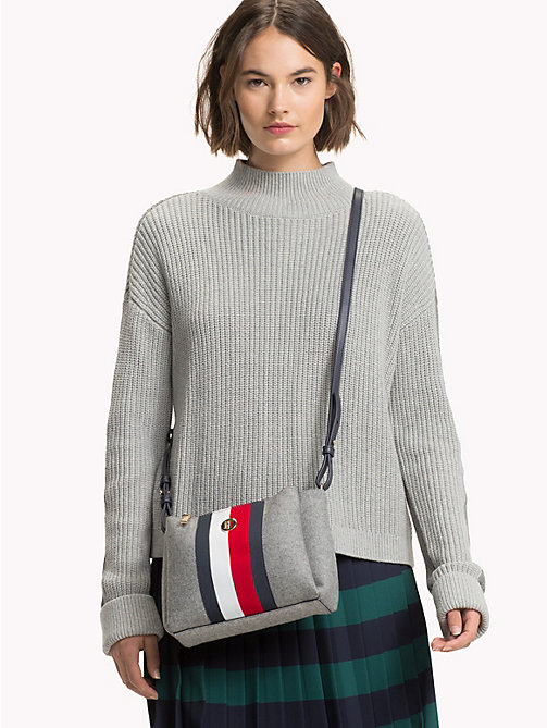 TOMMY HILFIGER Striped Crossover Bag - GRAY/ CORP STRIPE - TOMMY HILFIGER Crossbody Bags - detail image 1