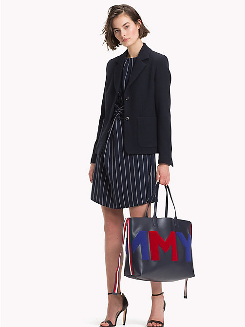 TOMMY HILFIGER Towelling Logo Tote Bag - TOMMY NAVY/ TOWLING - TOMMY HILFIGER NEW IN - detail image 1