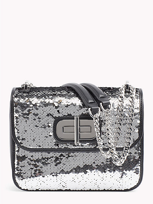 TOMMY HILFIGER Sequinned Crossover Bag - SILVER SEQUINS - TOMMY HILFIGER Bags & Accessories - main image