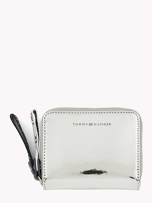TOMMY HILFIGER Mirror Metallic Logo Purse - METALLIC - TOMMY HILFIGER Wallets - main image