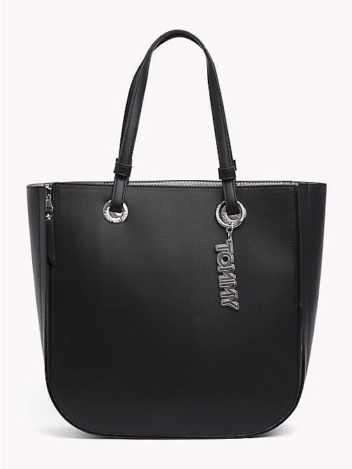 TOMMY HILFIGER Twist-Tasche in Metallic - BLACK/SILVER - TOMMY HILFIGER NEW IN - main image