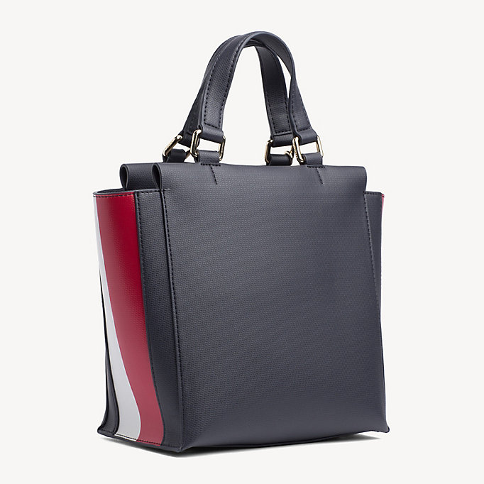 f36ed1ac05c Bolso satchel con placa y monograma Effortless. TOMMY HILFIGER