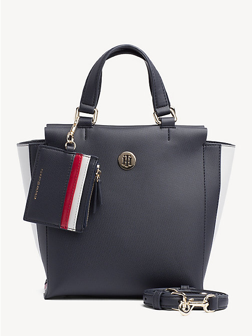 TOMMY HILFIGER Effortless Monogram Plaque Satchel - CORPORATE - TOMMY HILFIGER Satchel Bags - main image