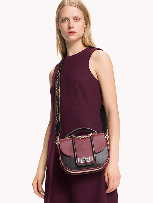 TOMMY HILFIGER TH Fancy Leather Crossover Bag - CABERNET MIX - TOMMY HILFIGER Party Looks - detail image 1