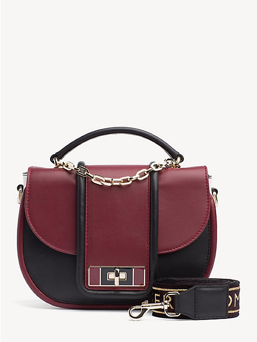 TOMMY HILFIGER TH Fancy Leather Crossover Bag - CABERNET MIX - TOMMY HILFIGER Party Looks - main image
