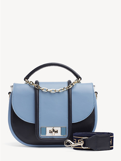 TOMMY HILFIGER TH Fancy Leather Crossover Bag - DUSK BLUE MIX - TOMMY HILFIGER Party Looks - main image