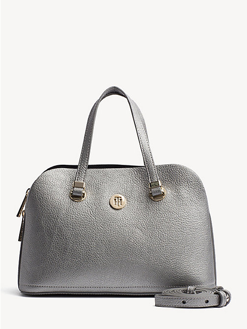TOMMY HILFIGER TH Core Satchel - PEWTER - TOMMY HILFIGER Party Looks - main image
