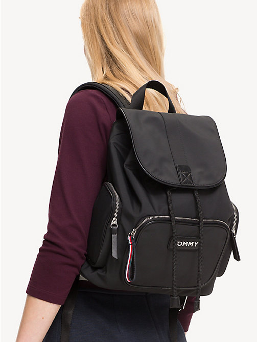 TOMMY HILFIGER Varsity Backpack - BLACK - TOMMY HILFIGER Backpacks - detail image 1